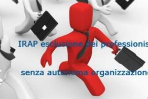 IRAP non applicabile a professionisti che svolgo l'attività in altre strutture