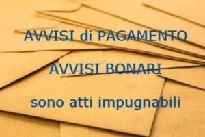 Avviso di pagamento: impugnabile autonomamente – Cassazione sentenza n. 21597 del 2016