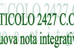 Bilancio: nota integrativa novità 2017