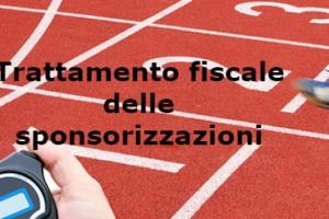 Sponsorizzazioni si società sportive dilettantistiche: trattamento fiscale