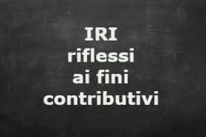 IRI: irrilevanza ai fini contributivi