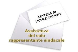 Licenziamento per giusta causa ed assistenza, nella procedura disciplinare, del solo rappresentante sindacale – Cassazione sentenza n. 9305 del 2017
