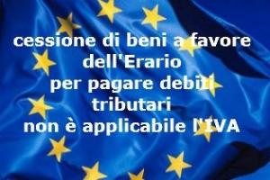 IVA non applicabile ai trasferimenti di beni al fisco per il pagamento delle imposte non è un operazione onerosa – Corte CE-UE sentenza n. 36/2016