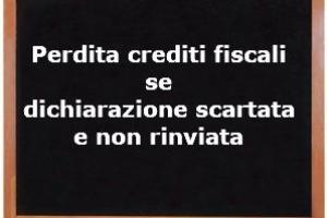 Crediti Tributari: perdita se la dichiarazione è stata scartata e non ripresentata – Cassazione sentenza n. 11828 del 2017