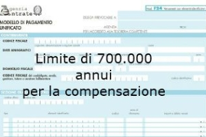 F24 limiti quantitativi di compenzensazione