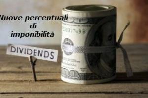 Dividendi e Plusvalenze la nuove percentuali di imponibilità al 58,14 per cento