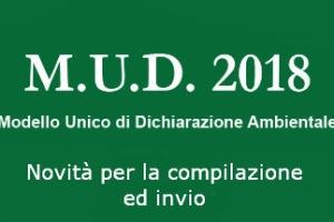 MUD 2018- Modalità di compilazione ed invio – Soggetti obbligati