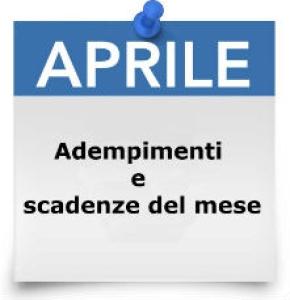 Calendario fiscale scadenze nel mese di aprile 2018